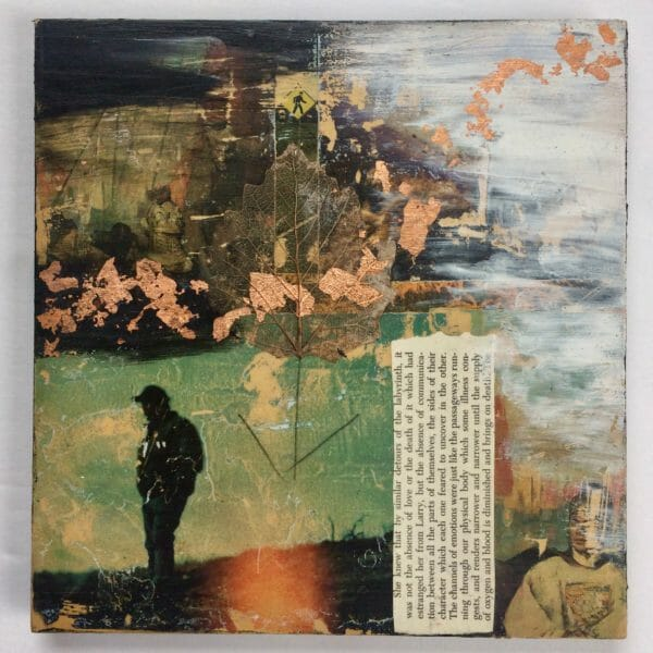 Detours is a 9×9 Original Mixed Media Collage On Board by Kymberlee della Luce