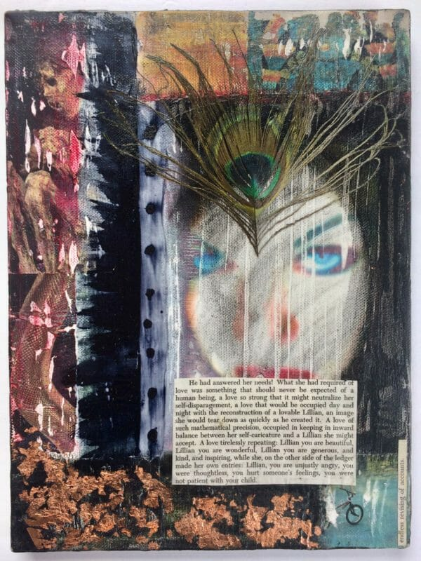Endless Revising is a 9x12 Mixed Media Collage On Canvas by Kymberlee della Luce
