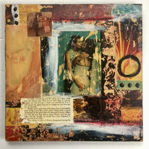 Ilusion is a 12x12 Original Mixed Media On Board by Kymberlee della Luce